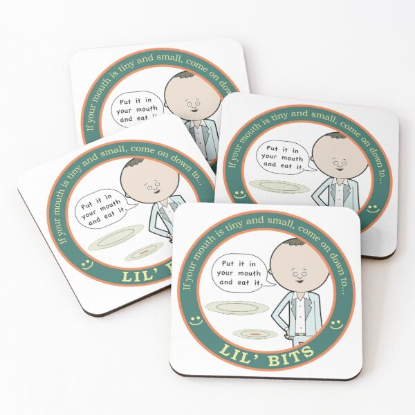 Lil' Bits - Rick and Morty Coasters (Set of 4)