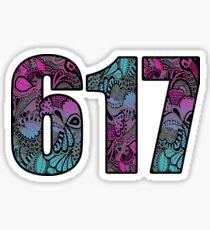 617 Doodle Sticker