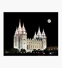 Salt Lake Temple by moonlight 20x24 Photographic Print