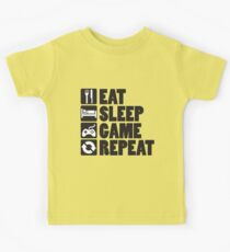 Eat, Sleep, Game, Repeat Kids Clothes