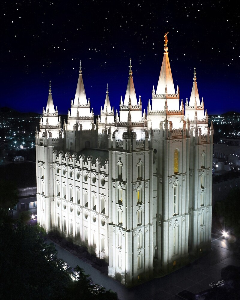 Quot Salt Lake Temple Starry Night 20x24 Quot By Ken Fortie