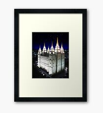 Salt Lake Temple Starry Night 20x24 Framed Print