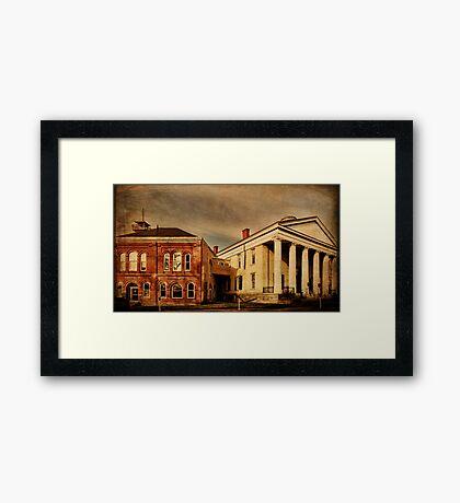 Joined in History Goshen New York Framed Print