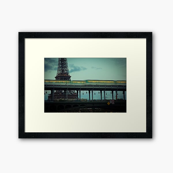 Le Metro and the Eiffel Tower Framed Art Print