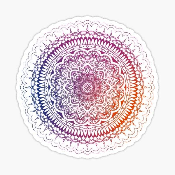 Fall Rainbow Gradient Mandala Sticker
