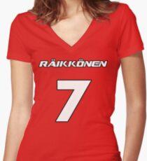 Raikkonen 7 Women's Fitted V-Neck T-Shirt