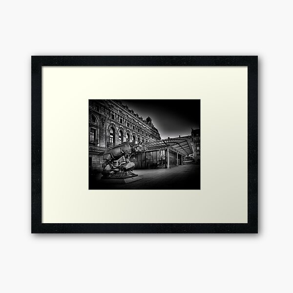 Musee D'Orsay Paris Black and White Framed Art Print