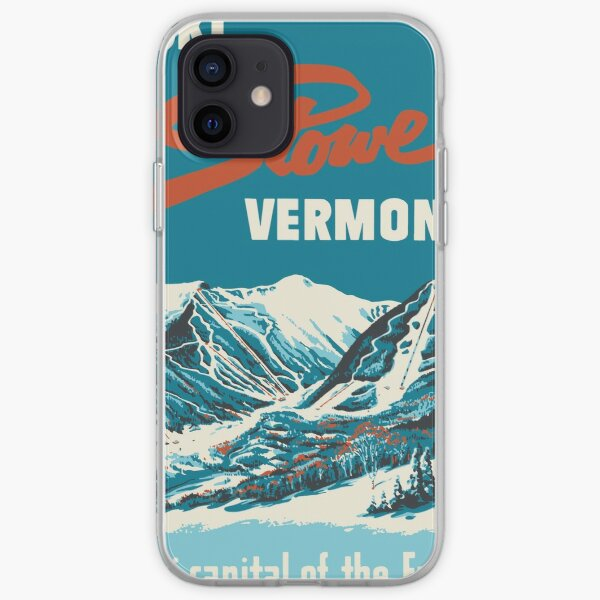 Ski Stowe Vermont, Vintage Poster iPhone Soft Case