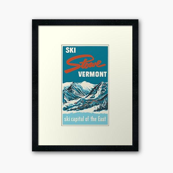 Ski Stowe Vermont, Vintage Poster Framed Art Print
