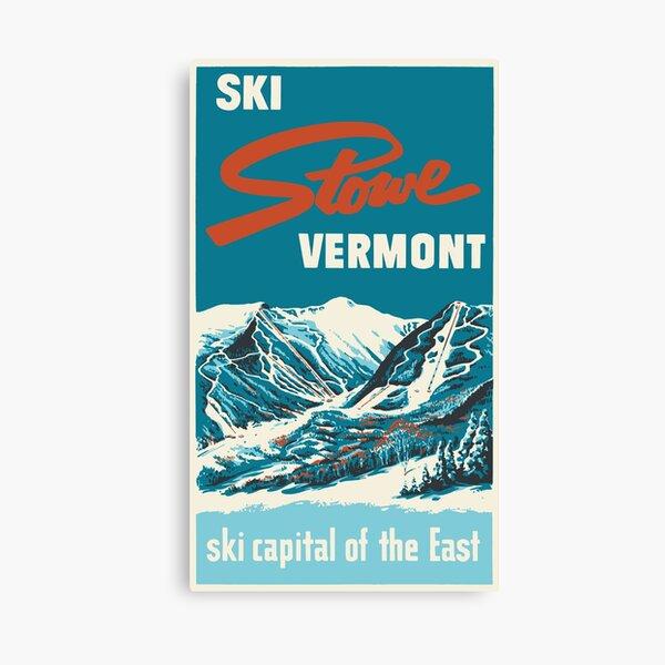 Ski Stowe Vermont, Vintage Poster Canvas Print
