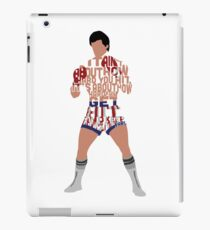 Rocky Balboa From Rocky Typography Quote Design iPad Case/Skin