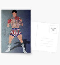 Rocky Balboa From Rocky Typography Quote Design Postcards