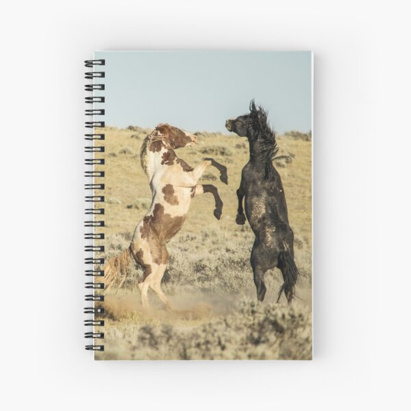 Wild Horses in Wyoming Spiral Notebook