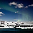 Aurora at Glacier Lagoon by Roddy Atkinson