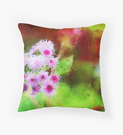 Wild and Crazy Ageratum! Throw Pillow