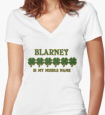 Irish Blarney Women's Fitted V-Neck T-Shirt