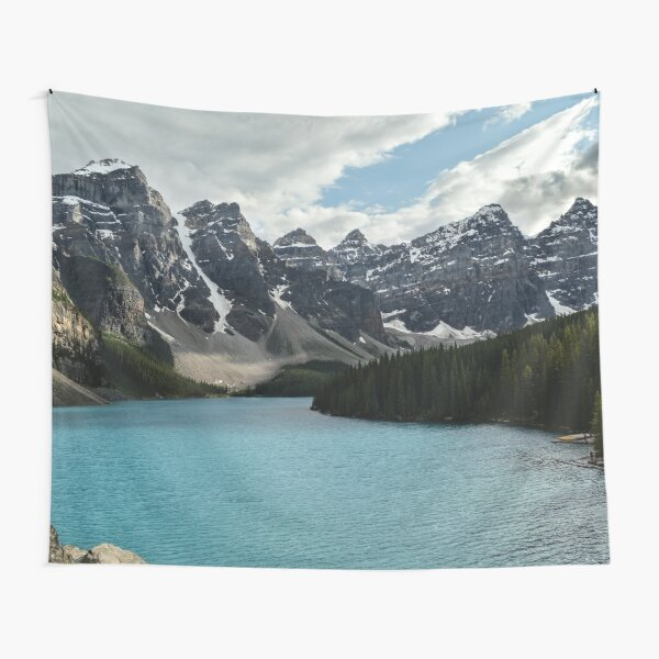 Rocky Mountains Blue Lake National Park Tapestry