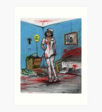 Get Well Soon - Zombie Nurse Art Print