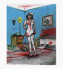 Get Well Soon - Zombie Nurse Photographic Print