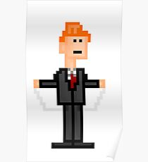 8-bit Conan O'Brien String Dance Poster
