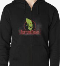 Rupture farms logo Zipped Hoodie