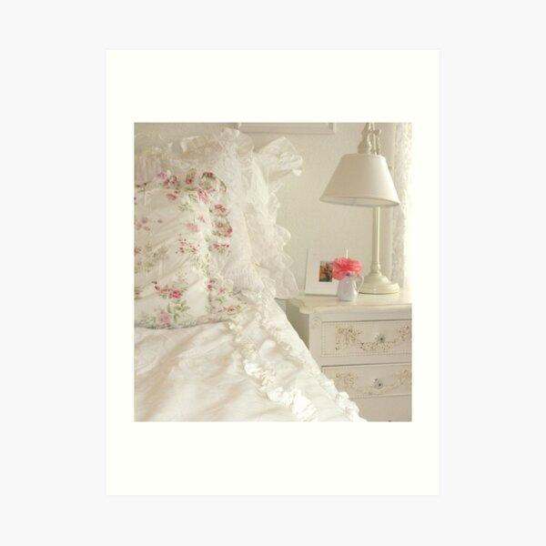 Shabby Chic Bedroom Art Print