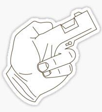 Hand Gun Sticker