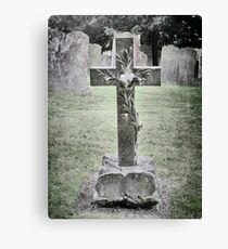 Cemetery Cross Headstone Hever Castle England Canvas Print