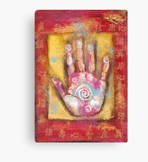 Chinese Energy Hand Canvas Print