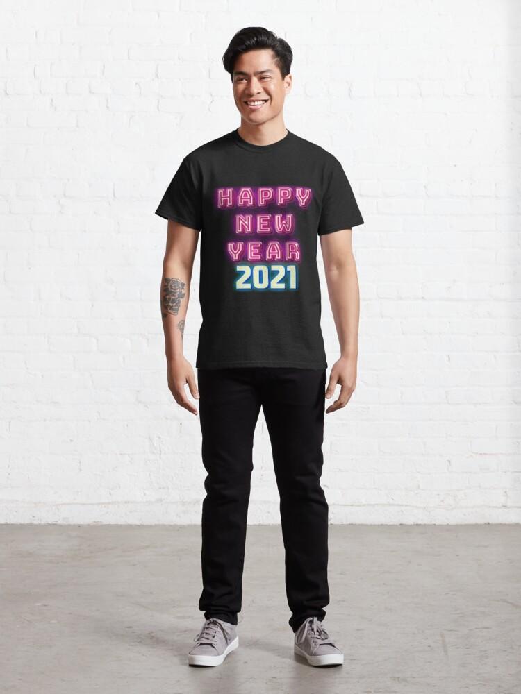 """""""Happy New Year 2021 Shirt - Neon T Shirt - Christmas ..."""