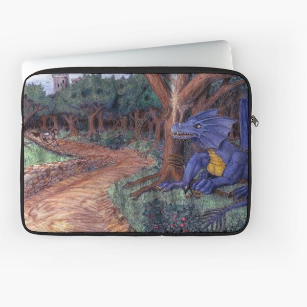 Lying In Wait - Dragon and Maiden Laptop Sleeve