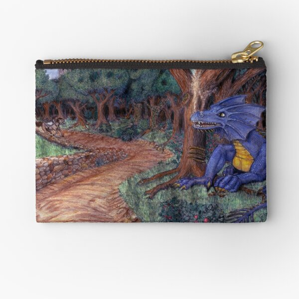 Lying In Wait - Dragon and Maiden Zipper Pouch