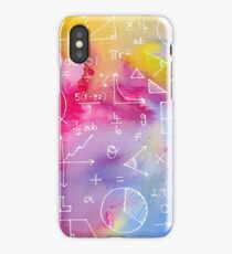 Math formulae (watercolor background) iPhone Case