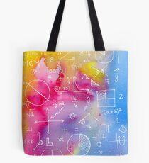 Math formulae (watercolor background) Tote Bag