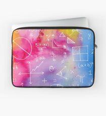 Matheformeln (Aquarell Hintergrund) Laptoptasche