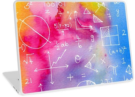 Matheformeln (Aquarell Hintergrund) von funmaths