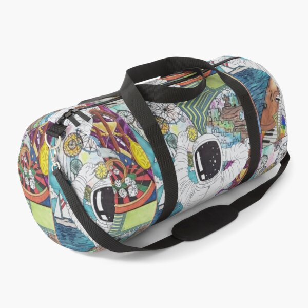 Bisected Consciousness: Self-Portrait Duffle Bag