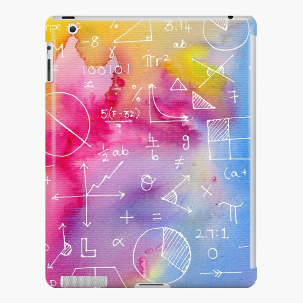 Math formulae (watercolor background) iPad Snap Case