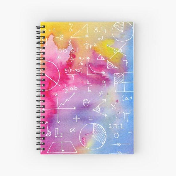 Math formulae (watercolor background) Spiral Notebook