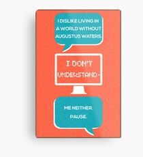 tfios - a world without Augustus Water (coral) Metal Print