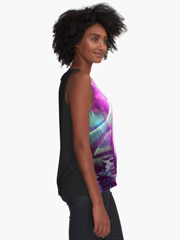 Alternate view of Bathing In The Sea of Tranquility  Sleeveless Top