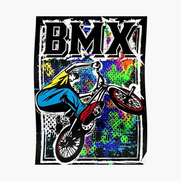 BMX Racing   Vélo BMX coloré Poster