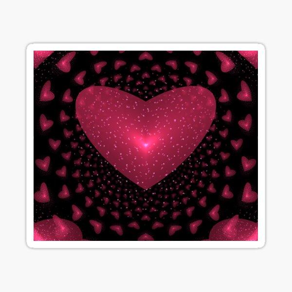 Red Hearts Rock Sticker