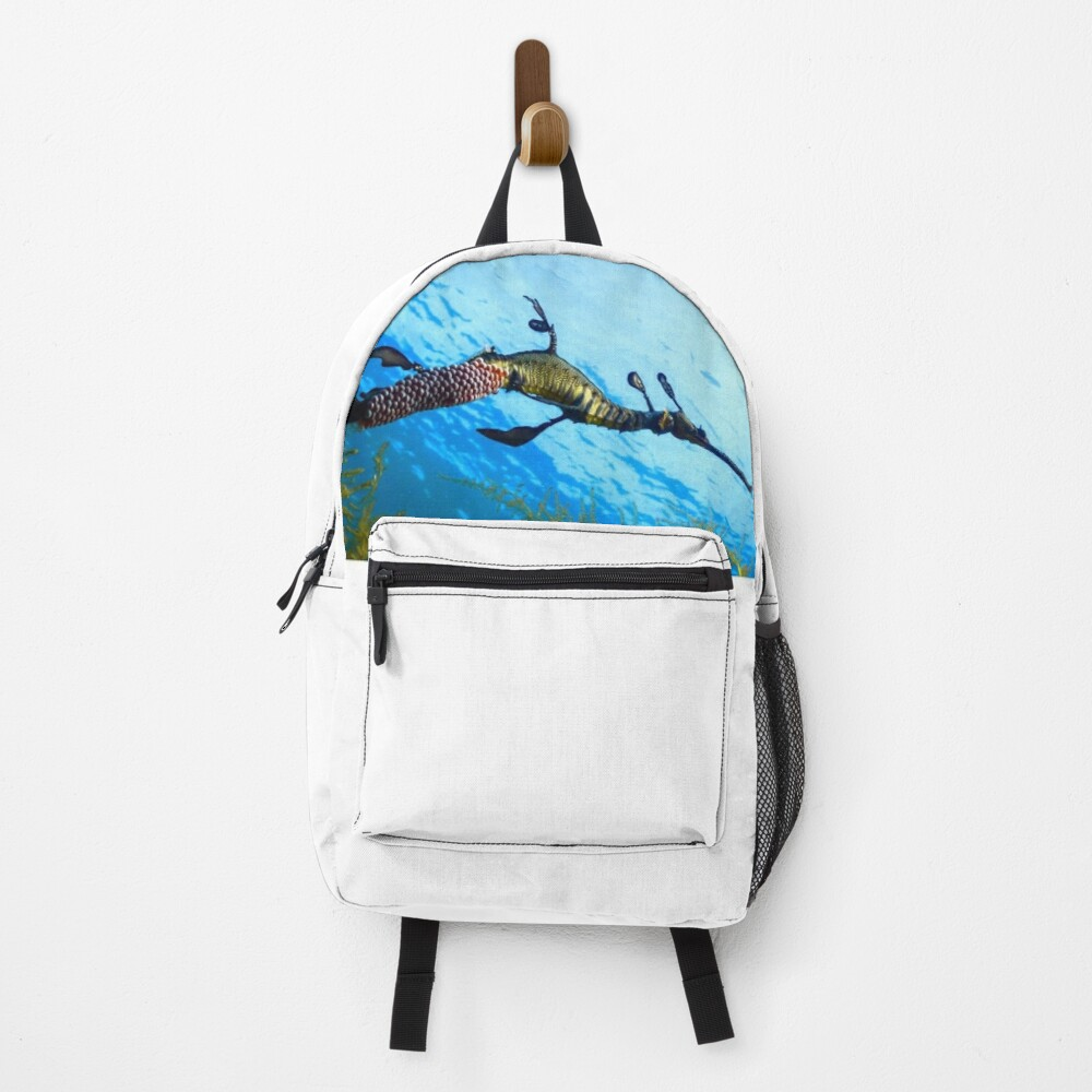 Weedy Seadragon with eggs under the sea Backpack