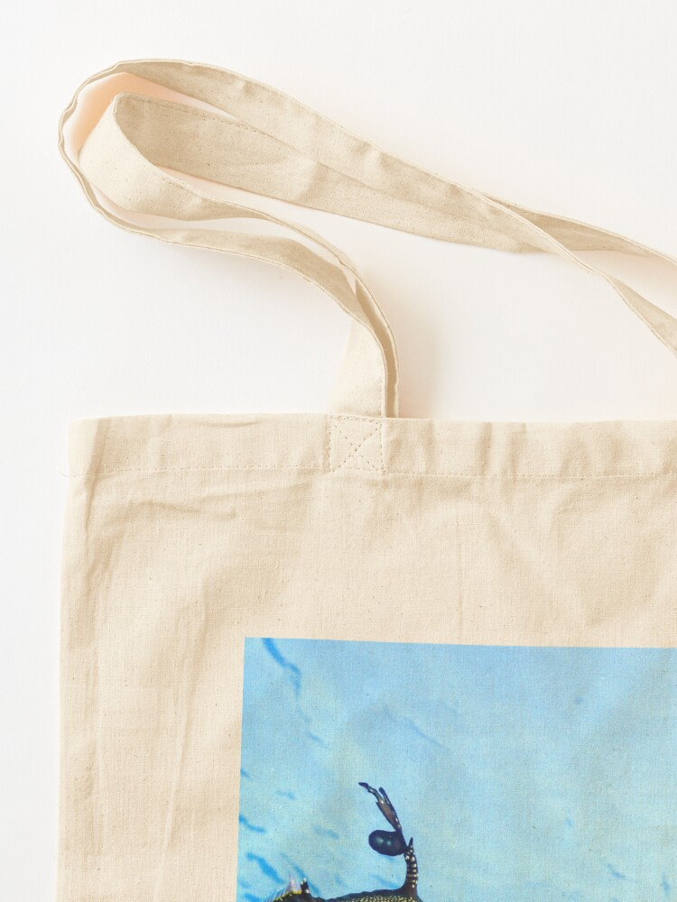 Alternate view of Weedy Seadragon with eggs under the sea Tote Bag