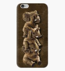 ELEPHANTS...SEE NO EVIL..HEAR NO EVIL,SPEAK NO EVIL IPHONE CASE  iPhone Case