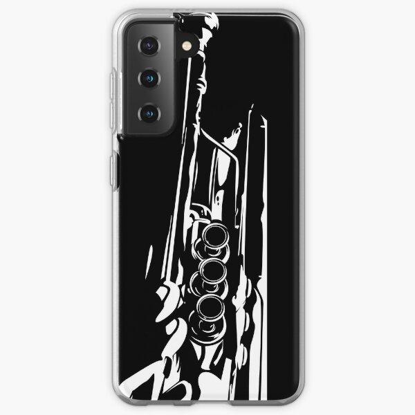 Jazz Trumpet Silhouette Samsung Galaxy Soft Case