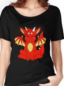 Cute Chibi Red Dragon Women's Relaxed Fit T-Shirt