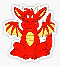 Cute Chibi Red Dragon Sticker