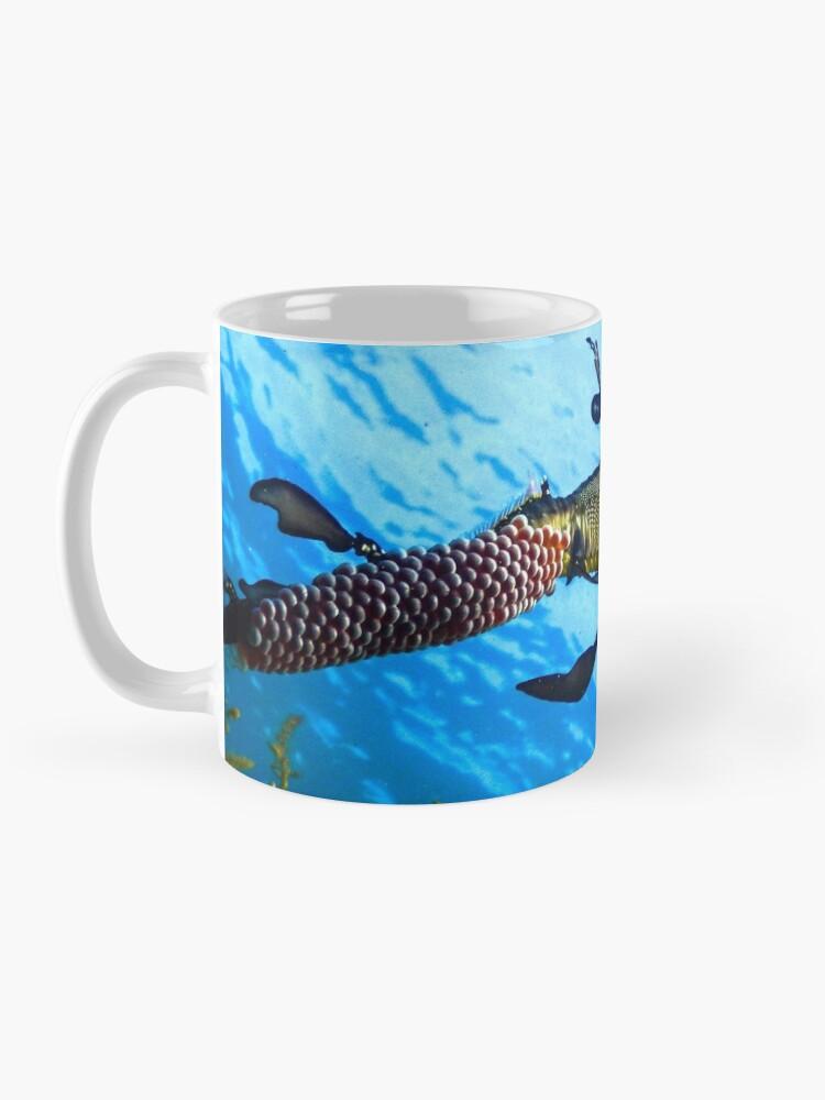 Alternate view of Weedy Seadragon with eggs under the sea Mug